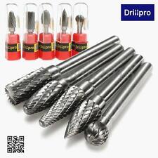 "5x Tungsten Carbide Burr 1/4"" 6mm Rotary Cutter Files Set CNC Engraving CED 10mm"