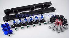 fit Nissan 350z infinity g35 VQ35DE engine bosch 650cc Fuel injectors Black Rail