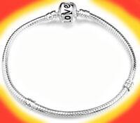 925 Sterling Silver Snake Bracelet Bangle Elegant Chain Fits European Big Hole
