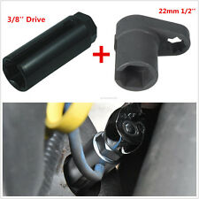 22mm 3/8''+1/2'' Drive Car Oxygen Sensor Socket O2 Wrench Offset Removal Tools