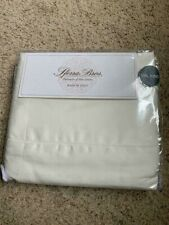NWT SFERRA Italian Long Staple Cotton Percale Ivory 4-PC CAL KING Sheet SET!