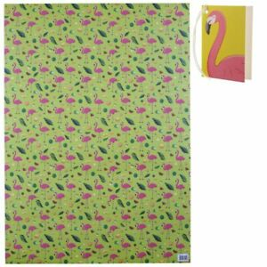 Flamingo & Pineapple Tropical Gift Wrapping Paper 2 Sheets & 2 Tags
