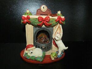 Peakdale Sculptures Festive Fun Westie Highland terrier 364 Christmas Fireplace