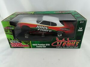1:18 ertl Racing Champions #77449 1969 Pontiac Gto Funny Car John Force #