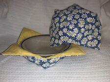 Microwaveable Daisy/Yellow Polka Dots bowl holder, cozy, buddy,  FREE SHIPPING