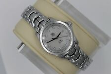 Tag Heuer Diamonds WJF1317.BA0572 QUARTZ Watch Womens White MOP Link SS $3K Box
