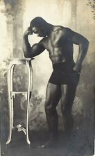 wrestling Wrestler Mora Handsome Black man muscular naked male strong Jock RARE!