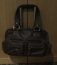 CLARKS BROWN LEATHER SHOULDER BAG / BARELY USED / GOOD CONDITION SOME MARKS
