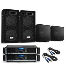 "PRO DJ PA SYSTEM 3000W 2x AMPLIFIER 12"" SPEAKERS 15"" SUBWOOFERS *FREE P&P OFFER"