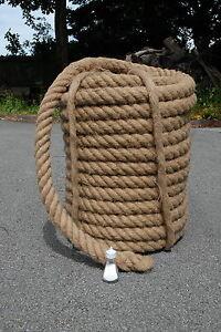 Decorative Jute Rope 44mm 3 Core 3 meter to 35 meters Garden Decking 100% Jute