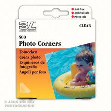 500 X Foto esquinas, Autoadhesiva claro álbum Monta. libre de ácido, archivado seguro