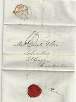 # 1838  RED HANDSTRUCK MISSENT TO LONDON ON TOWN HALL BRIGHTON TO TETBURY LETTER