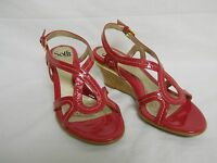 Sofft Paharita Magenta New Womens Wedge Patent Leather Sandals 6 M Shoes NWOB
