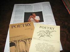 1969-2012 Laureate Robert Pinsky Poems & Essays & Interview/Libretto 16 Items