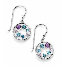 Orecchini di lusso con gemme pendente in argento ametista