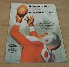 """1947 FOOTBALL 'Souvenir Program'~""""COMPTON COLLEGE vs. LONG BEACH CITY"""""""