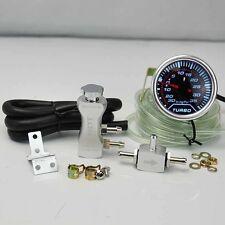 """BOOST CONTROLLER ADJUSTABLE 30PSI SILVER + 2"""" DIGITAL LED -30/35PSI BOOST GAUGE"""