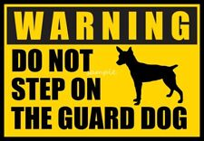 RAT TERRIER Warning Do Not Step Over Guard Dog Magnet 3 x 4 inches