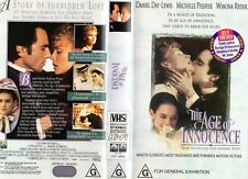 THE AGE OF INNOCENCE - VHS - PAL - NEW - Never played! - Original Oz release
