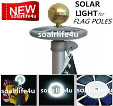 SunnyTech Solar Upgraded Flagpole Flag Pole Light 20LEDs Top Mount Yard New S