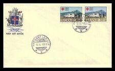 Iceland 1963 FDC, Centenary of the Red Cross. Lot # 1.