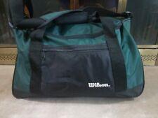 Vintage 90s Wilson Green Duffle Shoulder Travel School Bag Gym Sports Camping