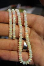 MEGA QUALITÄT!! natürlicher WELO OPAL Strang Kette Halskette Rondelle Äthiopien