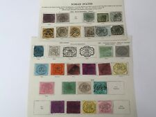 old stamps  PAPAL/ROMAN STATES   hinged on 2 pages
