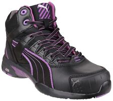 PUMA 630600 Stepper Mid S3 HRO Black Womens Safety Boot & Midsole Size 35-42 40