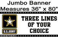ARMY STRONG JUMBO CUSTOM BANNER Party Supplies FREE SHIPPING