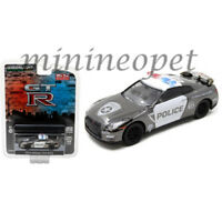 GREENLIGHT 51122 2015 NISSAN SKYLINE GT-R R35 1/64 POLICE CAR BLACK CHROME