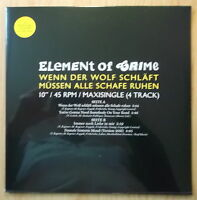"ELEMENT OF CRIME  4 TRACK 10"" MAXI: WENN DER WOLF SCHLÄFT..(NEU; DOWNLOAD)"