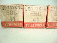 1X EBC41 TELEFUNKEN NOS/NIB TUBES, WITH <>, SEALED. SAME CODE