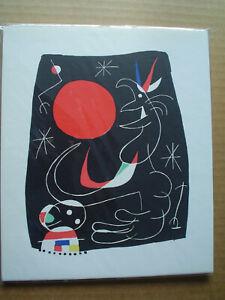 JOAN MIRO - Rare 1956 Original Lithograph - COA
