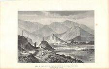 Gravure de Presse - Rampe de Varin, Défilé de Strescno et mont de la Magura