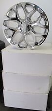 "22"" NEW GMC CHEVROLET ESCALADE FACTORY SPEC CHROME WHEELS RIMS 5668"