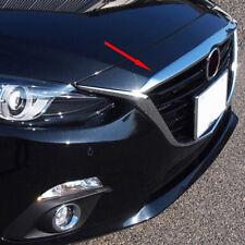 Chrome Front Hood Bonnet Grille Lip Cover Trim Bar Garnish For Mazda 3 2014-2016