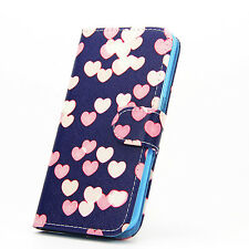 Luxury Flip Wallet Magnetic Leather Case Cover With Stand for Various PHONES LG G3 Style 2 Heart