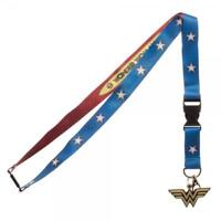 Wonder Woman Suit Up Lanyard with Charm & ID Badge Holder