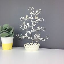Flower Earring Display Stand & Jewellery Dish - Holder - Organiser - CREAM