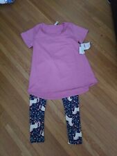Lularoe outfit Unicorn Leggings os And Pink Small Classic Tee