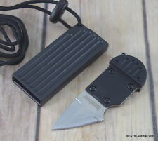 3.25 INCH MINIATURE FIXED BLADE NECK KNIFE FULL TANG KNIFE WITH HARD SHEATH