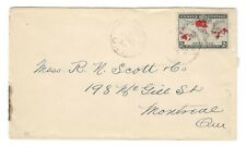 1899 Canada - Tweed, Ontario CDS Cancel Cover - 2c Map Stamp to Montreal