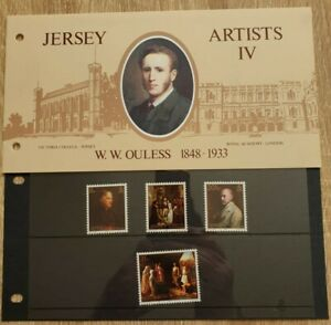 JERSEY MINT STAMPS 1983 ARTISTS IV W. W. OULESS PRESENTATION PACK