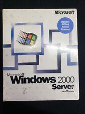 Microsoft Windows 2000 Server RETAIL BOXED NEW, SEALED + 5 CALs Licenses GENUINE