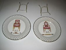 2 FRENCH EMPIRE STYLE CHAIR PLATE COLLECTION