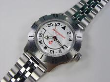 Bracelet. 24HR dial Automatic amphibian watch VOSTOK. 100m WR 2431. 350607.