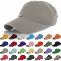 Polo Style Curved Stone Washed Cotton Plain Baseball Cap Low Profile Blank Hats