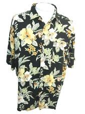 KNIGHTSBRIDGE Men Hawaiian ALOHA shirt pit to pit 26.5 floral camp luau rayon