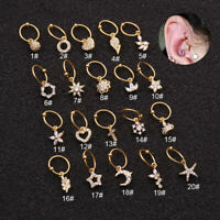 Multi Hoop Nose Ring Piercing Tragus Helix Ear Cartilage Pendant Earring Jewelry